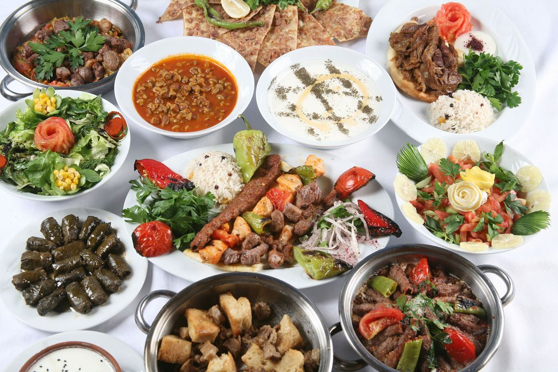 Some of our traditional Turkish dishes from our take away.